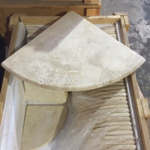 Travertine Shower Seat 18""