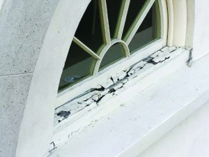 Rotting window sill