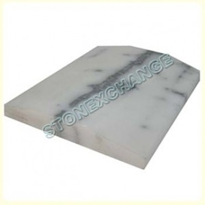 Nuevo White Carrara Thresholds- Double Hollywood Bevel