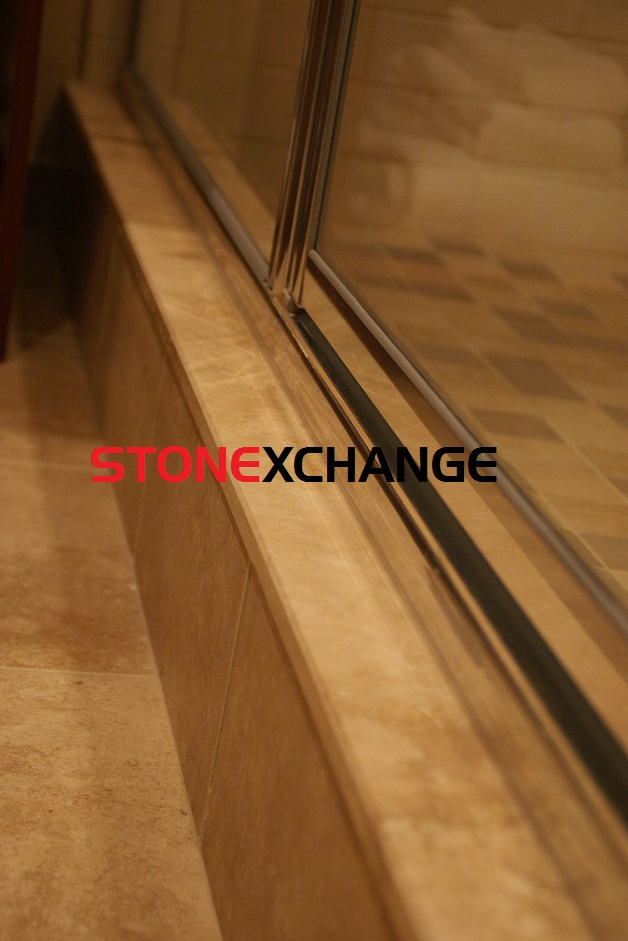 Travertine shower sills