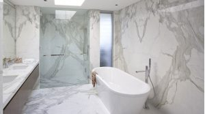 White Marble Distributor for Bathroom Design
