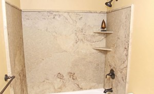 Distributor of Natural Stone Corner Shower Shelves for Condos in South Florida