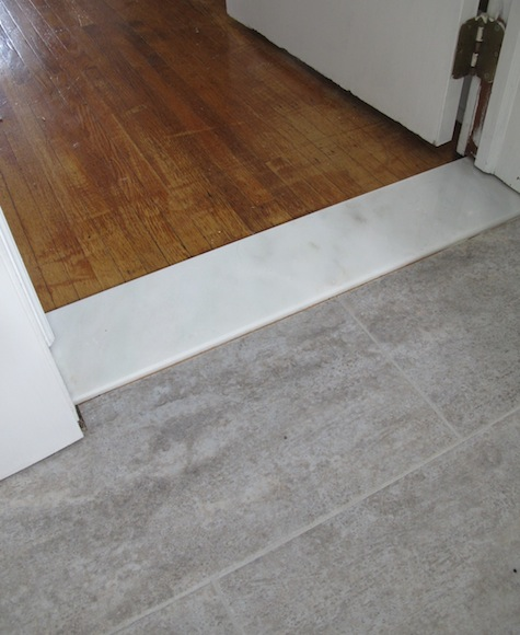 bathroom_threshold_installation_6 & Advantages of Marble Door Thresholds Compared to Popular ...