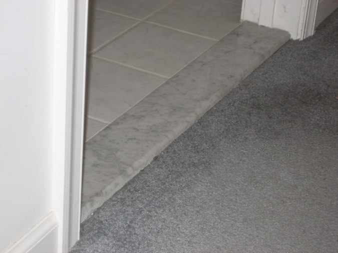 Tiling Bathroom Door Threshold seamless, groutless marble door thresholds | stonexchange miami
