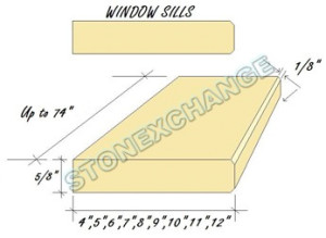 Wholesale Windowsills in Custom Sizes