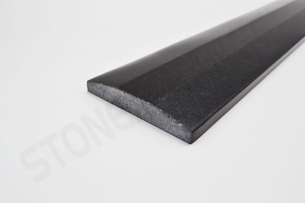 Absolute Black Granite Double Hollywood Bevel Threshold 4x36 Close up
