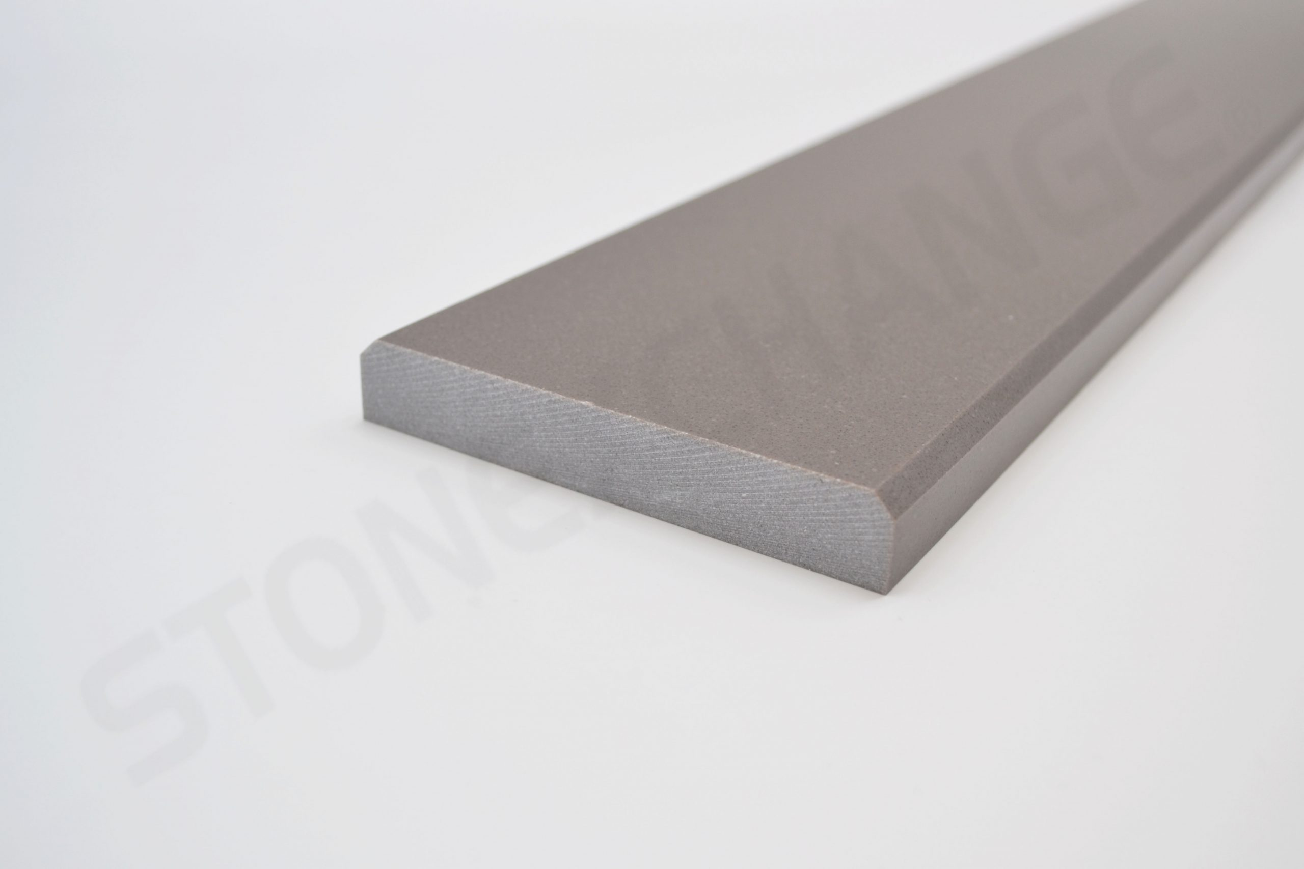 Concrete GrayEngineered Stone Double Standard Bevel Threshold 4x36 Close up