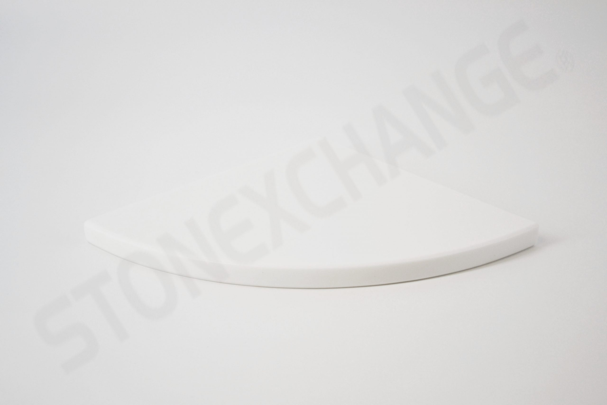 Pure White Engineered Stone Corner Shelf Shampoo Caddy