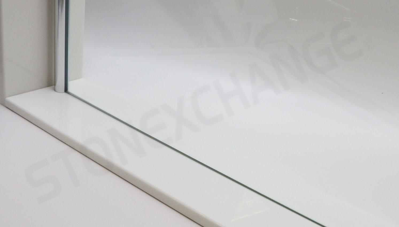 Pure White Engineered Stone Shower Curb