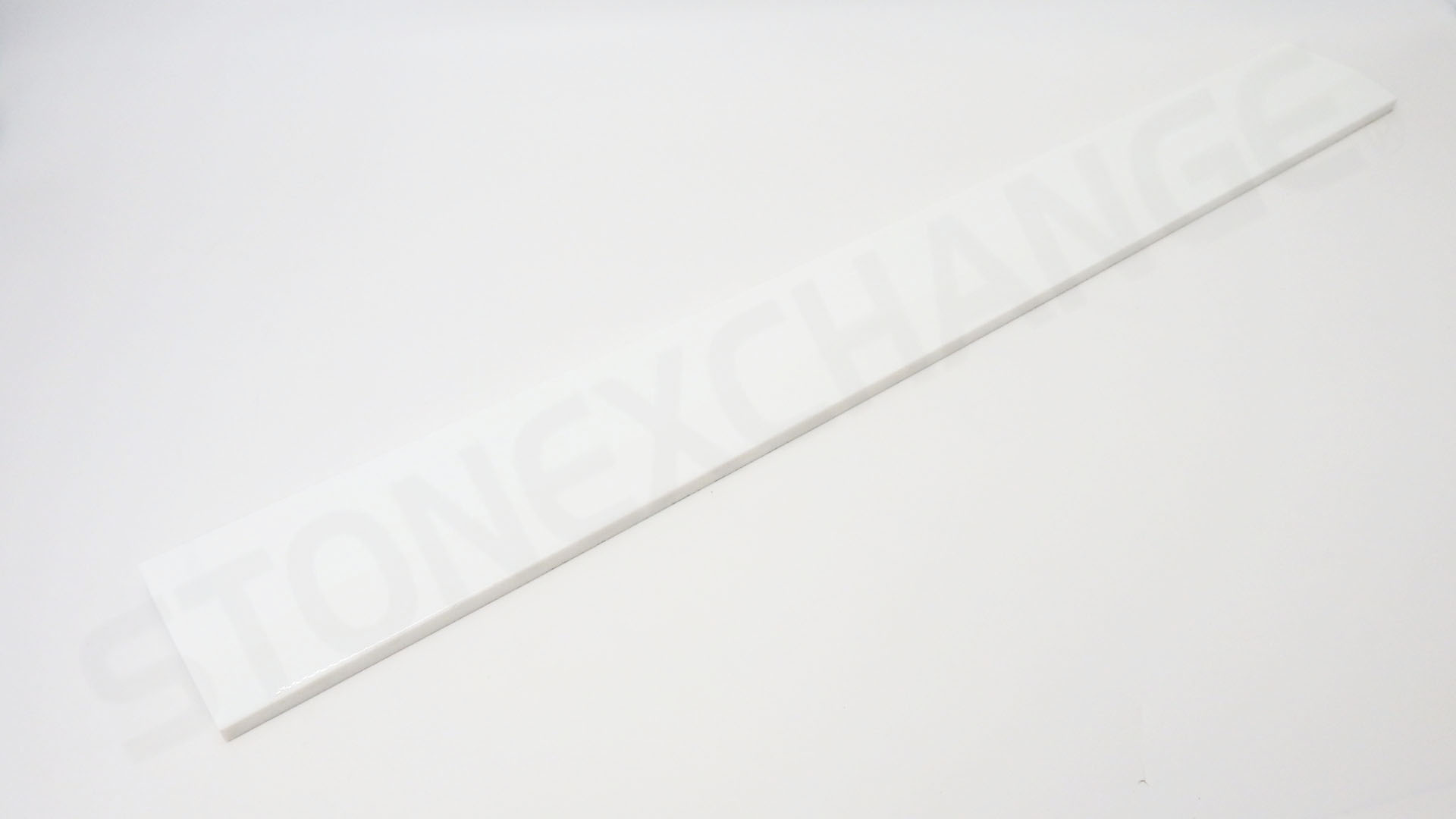 Pure White Engineered Stone Single Hollywood Bevel Threshold