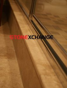 Travertine Sill Shower Curb