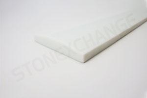 Pure White Engineered Stone Double Hollywood Bevel Threshold