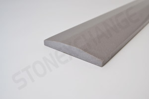 Concrete Gray Engineered Stone Double Hollywood Bevel Threshold 4x36 Close up